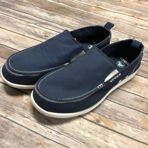 Men's Crocs Boat Style Shoes in Navy